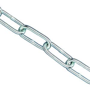 Zinc Plated Chain 2.5mm x 2.5m - Max Load 50kg