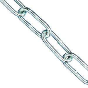 Zinc Plated Chain 5mm x 2.5m - Max Load 160kg