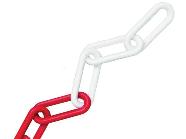 Plastic Chain 8mm x 12.5m Red / White