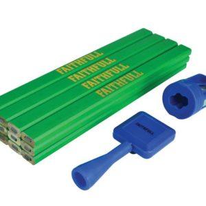 Carpenter's Pencil Kit Green / Hard (Pack 12)