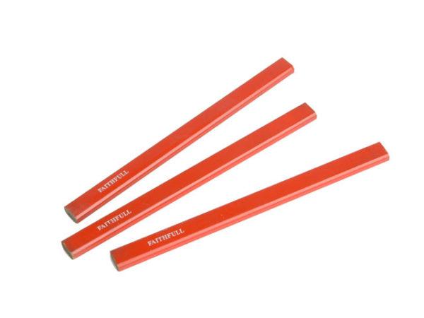 Carpenter's Pencils - Red / Medium (Pack of 3)