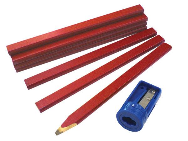 Carpenter's Pencils Tube & Sharpener