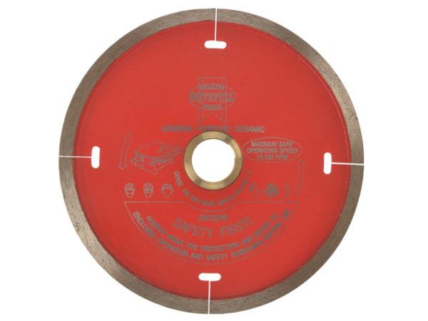 Diamond Tile Blade Continuous Rim 115 x 22.2mm