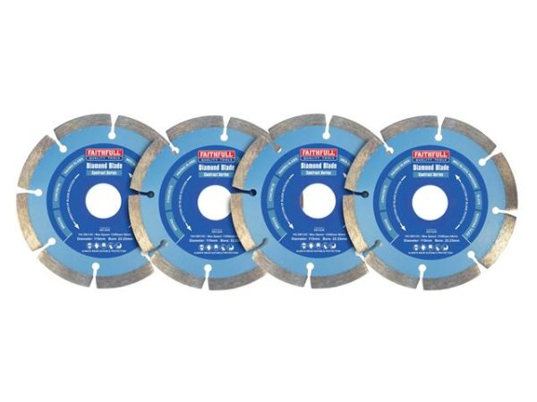 Contract Diamond Blades 115 x 22.2mm (Pack 4)