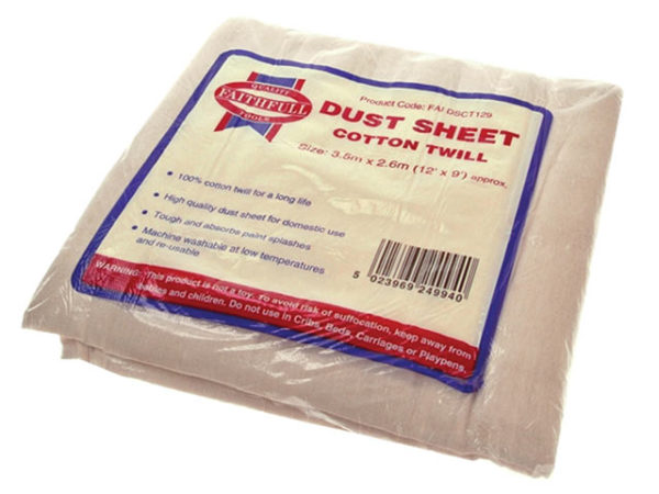 Cotton Twill Dust Sheet 3.6 x 2.7m