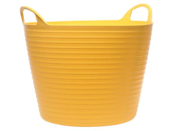 Heavy-Duty Polyethylene Flex Tub 42 litres Yellow