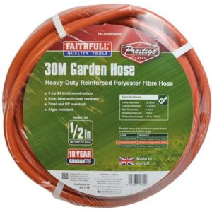 Prestige Heavy-Duty Garden Hose 30m 12.5mm (1/2in) Diameter