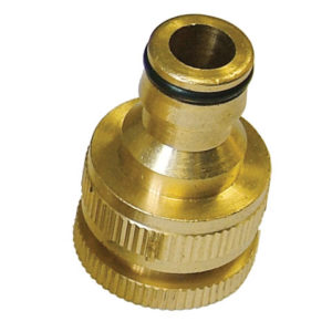Brass Dual Tap Connector 12.5 - 19mm (1/2 - 3/4in)