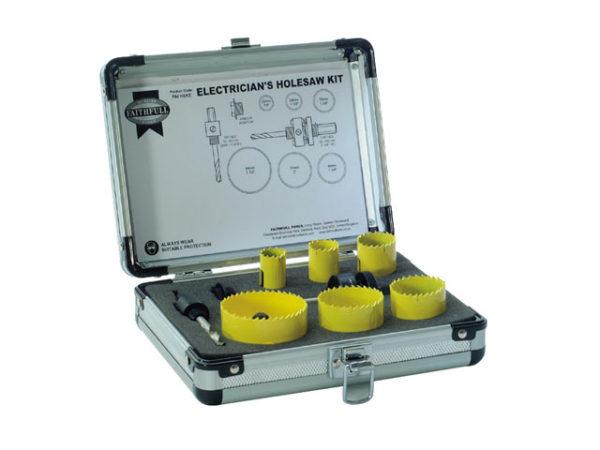 Universal Varipitch Holesaw Electrician's Kit 9 Piece 16-51mm
