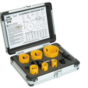 Universal Varipitch Holesaw Plumber's Kit 9 Piece 19-57mm