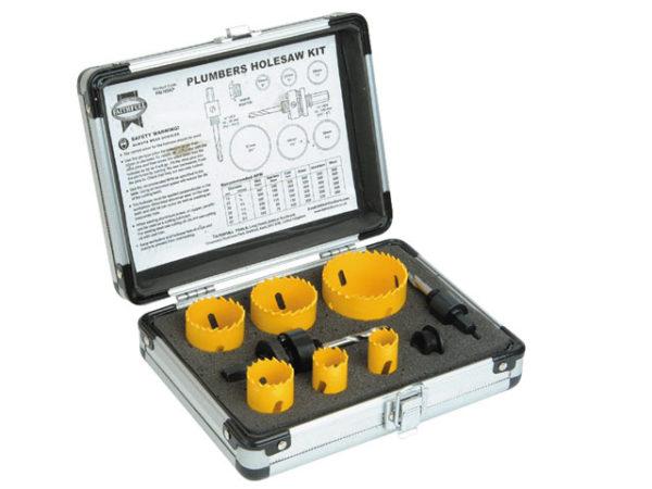 Universal Varipitch Holesaw Plumber's Kit 9 Piece 19-57mm