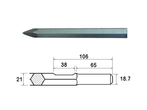 Kango Shank Point 380mm (914112)