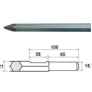 Kango Shank Point 450mm (914113)