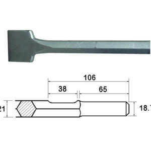 Kango Shank Straight Scaling Chisel 75 x 300mm