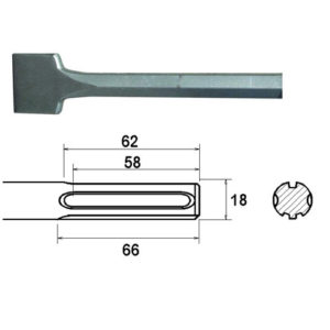 SDS Max Straight Scaling Chisel 50 x 400mm