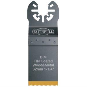 Multi-Functional Tool Bi-Metal Flush Cut TiN Coated Blade 32mm
