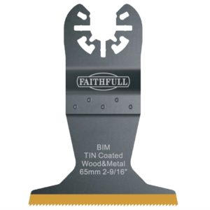 Multi-Functional Tool Bi-Metal Flush Cut TiN Coated Blade 65mm