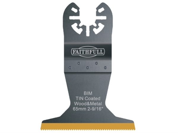 Multi-Functional Tool Bi-Metal Flush Cut TiN Coated Blade 65mm
