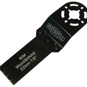 Multi-Functional Tool Bi-Metal Flush Cut Wood/Metal Blade 22mm