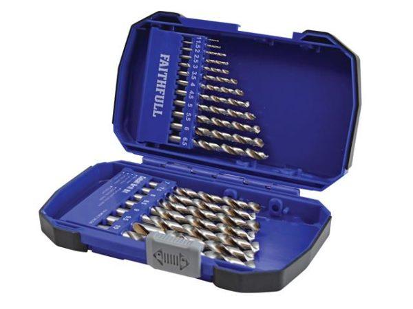 Cobalt HSS Drill Set M35 1-10mm 19 Piece