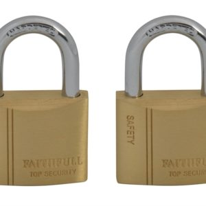 Brass Padlock Keyed Alike 2 x 40mm
