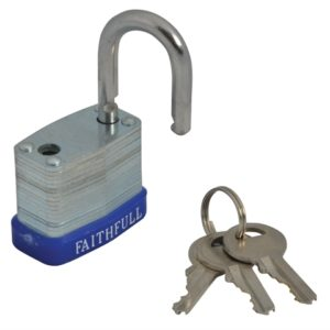 Laminated Steel Padlock 30mm 3 Keys