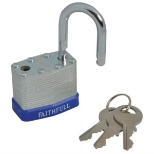 Laminated Steel Padlock 40mm 3 Keys