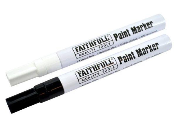Paint Marker Pen Black & White (Pack of 2)
