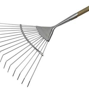 Prestige Stainless Steel Lawn Rake Ash Handle