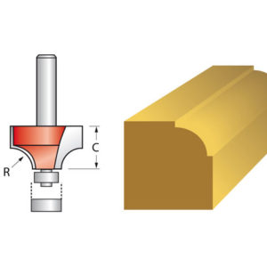 Router Bit TCT 6.3mm Rounding Over 1/4in Shank