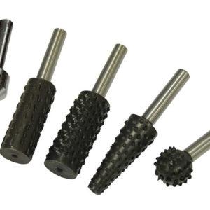 Rotary Rasps (4) & Countersink (1) Set