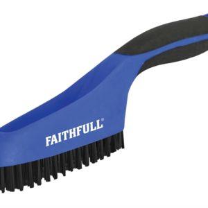 Scratch Brush Soft Grip 4 x 16 Row Plastic