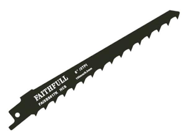 S617K Sabre Saw Blade Wood 150mm 3 TPI (Pack of 5)