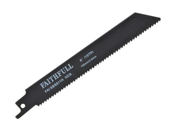 S811H Sabre Saw Blade Wood 150mm 10 TPI (Pack of 5)