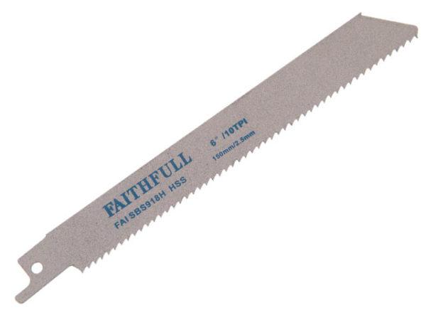 S918H Sabre Saw Blade Metal 150mm 10 TPI (Pack of 5)