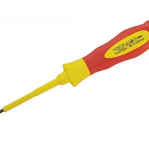 VDE Soft Grip Screwdriver Parallel Slotted Tip 4.0 x 100mm