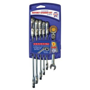 Ratchet Combination Spanner Flex Head Set