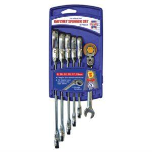 Ratchet Combination Spanner Flex Head Set