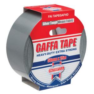 Heavy-Duty Gaffa Tape 50mm x 25m Silver