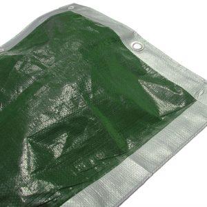 Tarpaulin Green / Silver 3.6 x 2.7m (12 x 9ft)