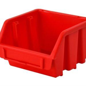 Interlocking Storage Bin Size 1 Red 116 x 112 x 75mm