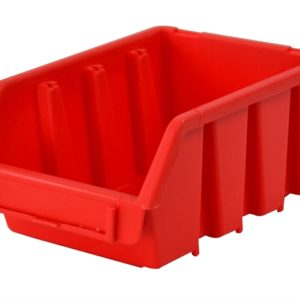 Interlocking Storage Bin Size 2 Red 116 x 161 x 75mm