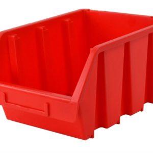 Interlocking Storage Bin Size 4 Red 209 x 340 x 155mm