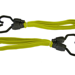 Flat Bungee Cord 90cm (36in) Yellow 2 Piece