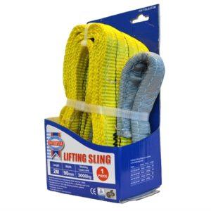 Lifting Sling Yellow 3 Tonne 90mm x 2m