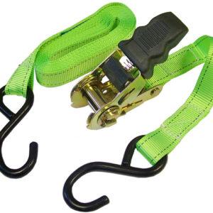 Ratchet Tie-Downs S Hook 5m x 25mm Breaking Strain 600kg/daN 2 Piece