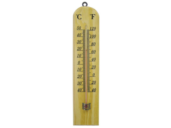 Wall Thermometer - Wood 260mm