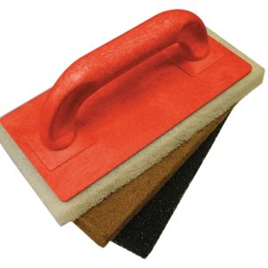 Scouring Pad Holder + Fine Medium & Coarse Pads
