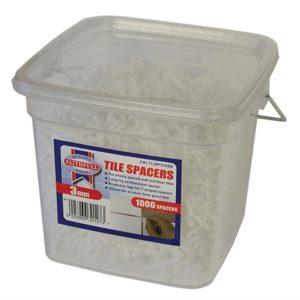 Tile Spacer Long Leg 3mm Tub of 1000