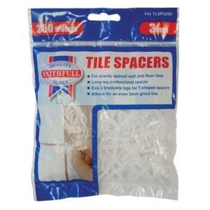 Tile Spacer Long Leg 3mm Bag of 250
